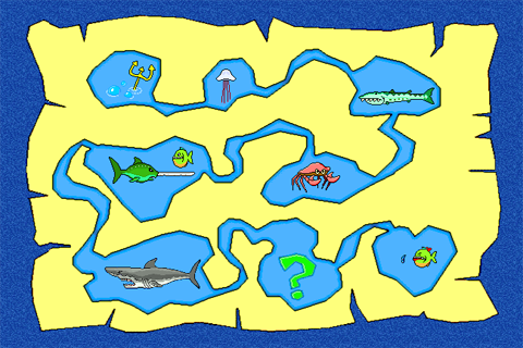 Game map Piranha Panic